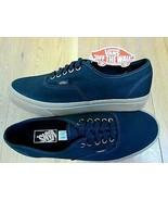 Vans Authentic Mens Light Gum Black Canvas Skate Boat shoes Size 8 NWT     - $49.49
