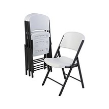 Lifetime 42804 Folding Chair with Molded Seat and Back, White Granite, S... - $165.48