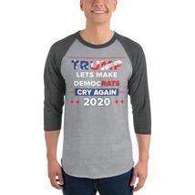 Lets democrats Cry Again 3/4 sleeve raglan shirt Trump 2020 image 3