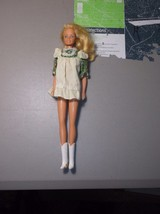 Vintage 1966 Mattel Barbie Twist and Turn Blond Hair Green Flower Dress ... - $49.50