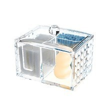 Ouyatong Upgraded Clear Acrylic Makeup Cotton Pads Organizer,Cotton Ball... - $23.95 CAD