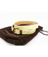 Authentic LOUIS VUITTON Pearl Vernis Triple Tour Bracelet #27624 - $175.00