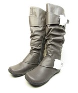 Journee Collection Paris Womens Slouch Riding Boots Grey Size 7 - $53.20