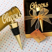 Cheers gold bottle stopper from fashioncraft  - $4.99