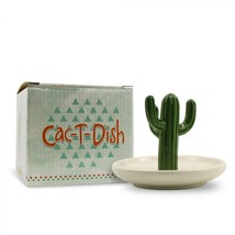 Ring Holder Ceramic Cactus Jewelry Dish Art Storage Tree Home Decoration... - $17.99