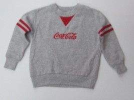 Coca-Cola Gray/Red Children's Sweatshirt - Size 2 - NEW - $11.39