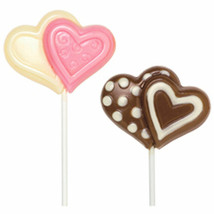 Wilton Candy Mold Double Heart large Lollipop Valentine's Day - $7.91