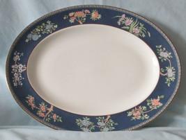 "Wedgwood Blue Siam Oval 14"" Platter - $49.39"