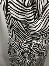 ANN TAYLOR Black Zebra Print Dress Sz Large 10 12 Sleeveless Belt NWT An... - $67.23