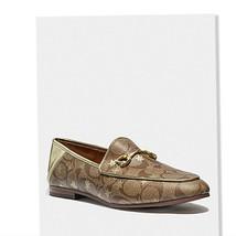 Coach Women's shoes Haley PVS Loadfer FG3143 232368 size 8,8.5 Khaki/ Gold - $93.60+