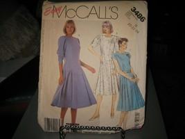 McCall's 3486 Misses Dress Pattern - Size 20 Bust 42 Waist 34 Hip 44 - $8.49
