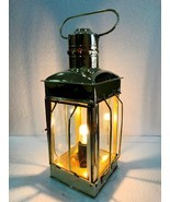 "12"" Electric Vintage Stable Gold Brass Lantern Lamp Wall Hanging Home Decor - $61.88"