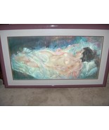 Vintage Julian Ritter Painting Print Showgirl Reclining Nude Woman Signe... - $866.25