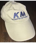 NEW KM Automated Entrances Hat Men's Adjustable Baseball Cap Tan Khaki  - $9.79