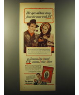 1949 Prince Albert Tobacco Ad - Her eyes seldom stray from the man with ... - $14.99