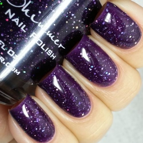 KBShimmer WITCH WAY? NAIL POLISH Jelly Purple  0.5 oz Full Size NEW Glitter