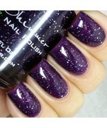 KBShimmer WITCH WAY? NAIL POLISH Jelly Purple  0.5 oz Full Size NEW Glitter - $24.73