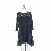 S - Holding Horses Anthropologie Agusta Blue Crochet 3/4 Sleeve Dress 0000MB - $56.00