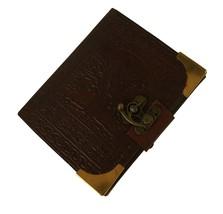 Handmade Paper Brown Luxury Leather 3 X 4 Paper Journal -  Sketchbook - $19.79