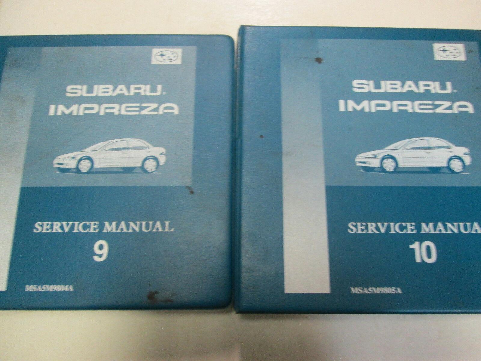 1998 Subaru Impreza Service Manual 2 Volume Set FACTORY FEO BOOKS BINDER ***