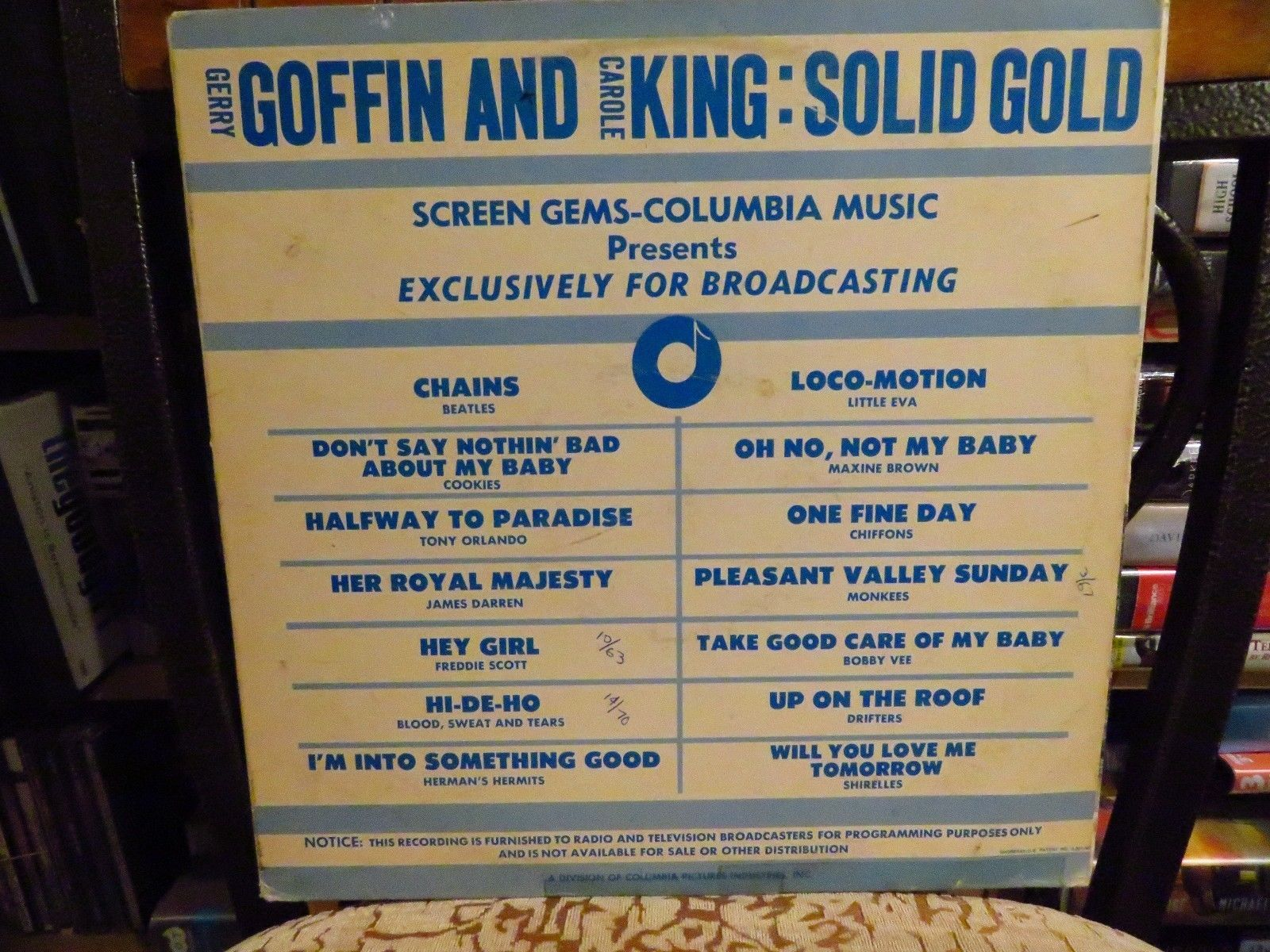 Primary image for Goffin & Carole King Solid Gold Promo Broadcasting Beatles LP Disco Album Vinile