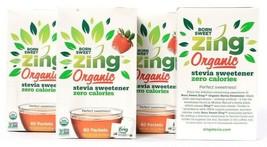 4 Boxes Domino Foods Born Sweet Zing Organic Stevia Sweetener 2.8oz BB 1... - $33.99