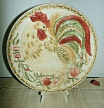 """Royal Doulton Rooster Plate Chanticlair Embossed 8 3/4"""" Crazing 2004 - $16.83"""
