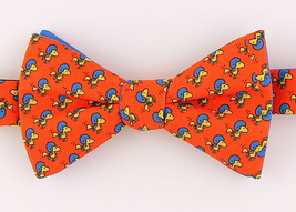 Woodstock Football Men's Bow Tie Licensed Pretied Peanuts Sports Orange Bowtie - $29.35