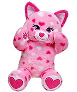Build a Bear Huggable Hearts Kitty Cat Pink White 17in. Stuffed Plush To... - $89.99