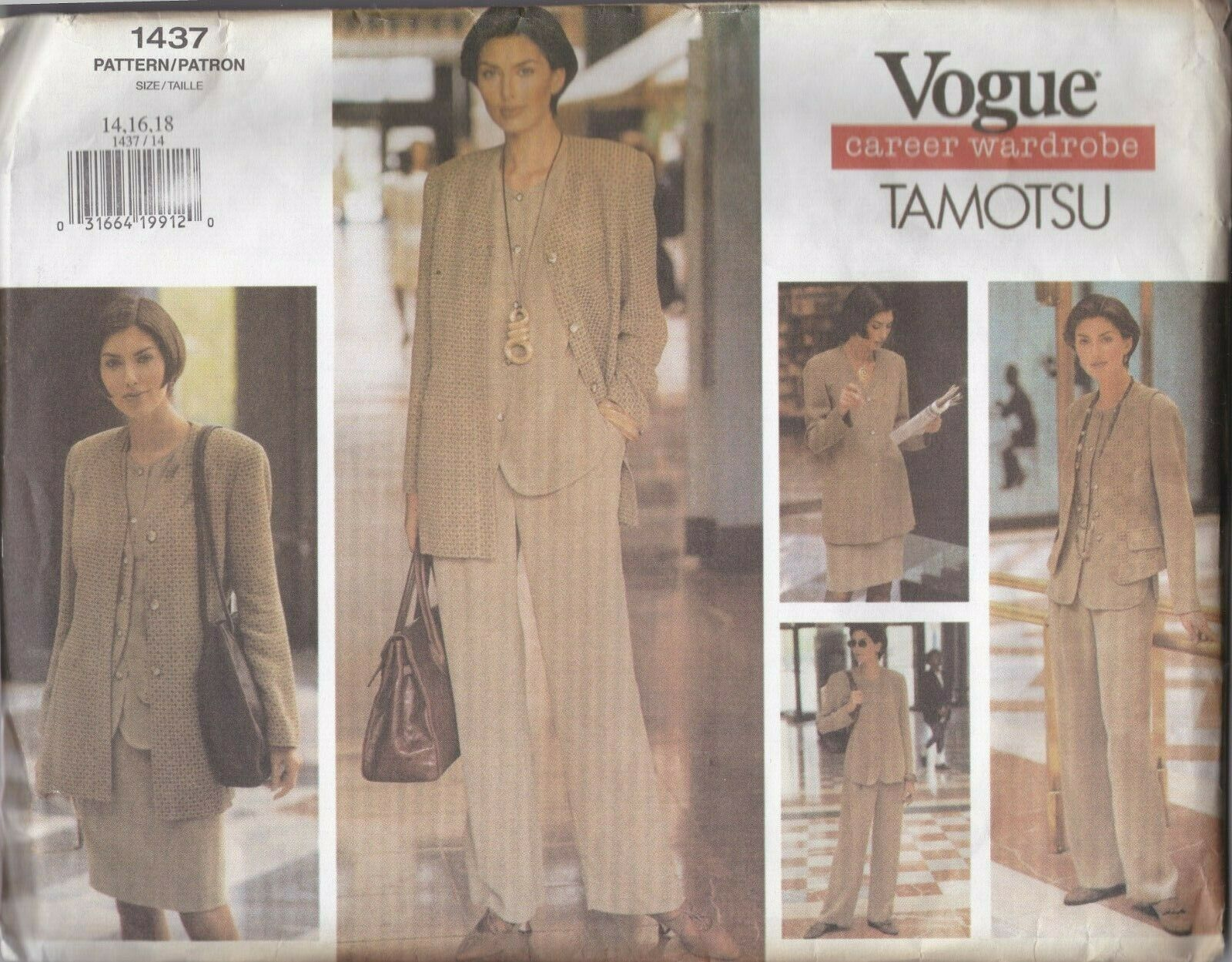 Primary image for Vogue 1437 Career Wardrobe by Tamotsu Capsule Wardrobe Collection 14-16-18
