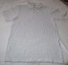 Hanes Stay Clean adult S 34-36 small mens lt grey ht short sleeve polo shirt NOS - $16.08