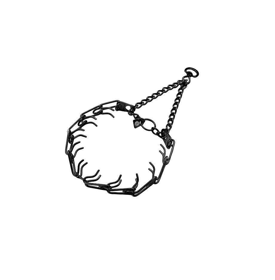 Herm Sprenger Pinch Entraînement Collier pour Chiens Noir Haute Qualité 22