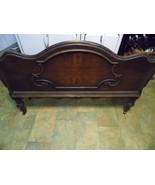 Vintage Antique Victorian Carved Wood Headboard   Twin Size Bench Project - $157.41