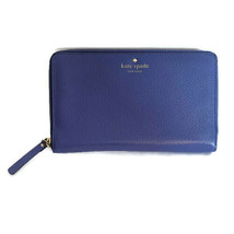 Kate Spade Zip Around Travel Wallet - Oyster Blue (Periwinkle) Grand Str... - $124.95
