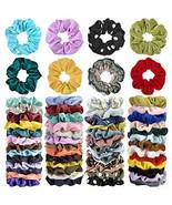 Cehomi 52Pcs Hair Scrunchies Velvet,Chiffon,Satin Elastic Hair Bands Scr... - $11.65