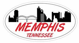 Memphis Tennessee Oval Bumper Sticker or Helmet Sticker D5532 - $1.39+