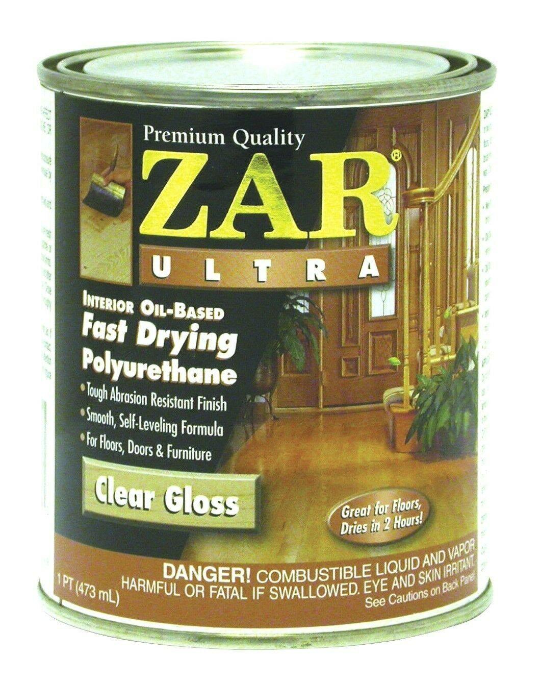 2x Zar Ultra 1Pt Clear Gloss Oil Based Polyurethane 32811 United Gilsonite Lab