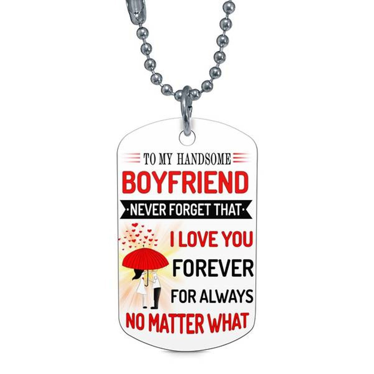 To My Boyfriend I Love You Forever Dog Tag And 50 Similar Items