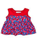 Build a Bear Poppy Red Blue Pink Floral Dress T... - $29.95