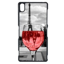 Coloful wine with Paris Sony C3 case Customized premium plastic phone case, desi - $11.87