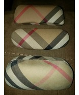 Lot of 3 Burberry Nova Check Plaid Hard Clamshell Sunglasses Cases Only ... - $23.33