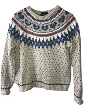 Vintage Woolrich Knit Jumper Womens Fair Isle Nordic Wool Blend size S S... - $39.59