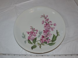 "H&C Heinrich Wisteria Dinner Plate 1 plate 9 3/4"" White Pink Flowers ! - $34.64"