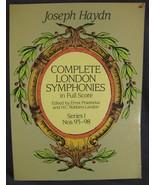 Joseph Haydn Complete London Symphonies in Full Score Series I Nos. 93-98 - $11.50