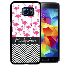 PERSONALIZED CASE FOR SAMSUNG S9 S8 S7 S7 S6 PLUS RUBBER COVER FLAMINGO ... - $13.98