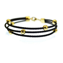 New! Kabl Brand Orbitus Stackable Twisted Stainless Steel Cable Bangle Bracelet - $19.99