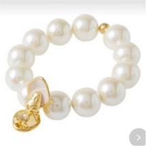 Disney Q-pot Alice in Wonderland Young Oyster Pearl Bracelet Bangle(Fake pearl) - $155.43