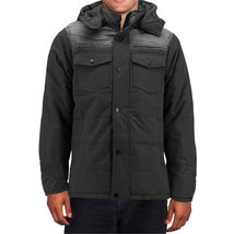 Men's Heavyweight Water And Wind Resistant Removable Hood Insulated Jacket image 7