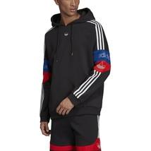 Adidas Men's Originals Team Signature Trefoil Hoodie Black-White ED7173 - $55.20