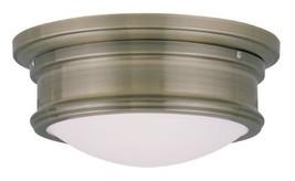 Livex Lighting 7341-01 Astor 2 Light Ceiling Mount, Antique Brass - $137.86